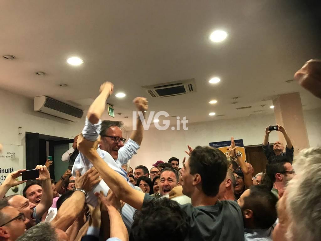 Riccardo Tomatis festa elezione