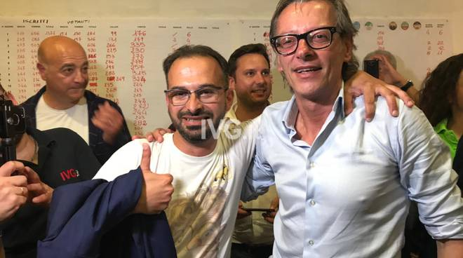 Riccardo Tomatis Diego Distilo festa elezioni