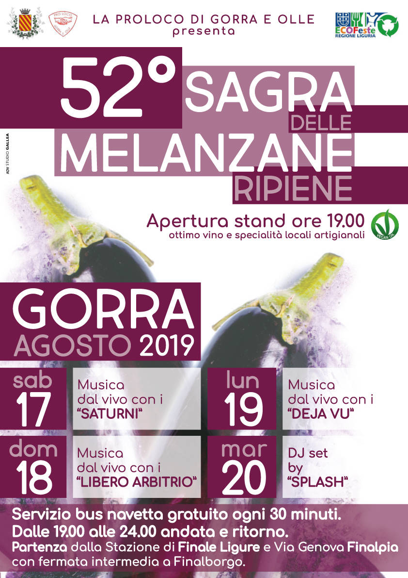 52esima Ecosagra delle Melanzane Ripiene a Gorra