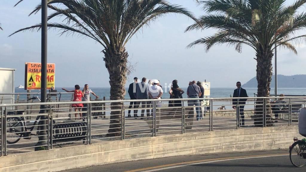 Albenga, sopralluogo alla foce del Centa per il Jova Beach Party