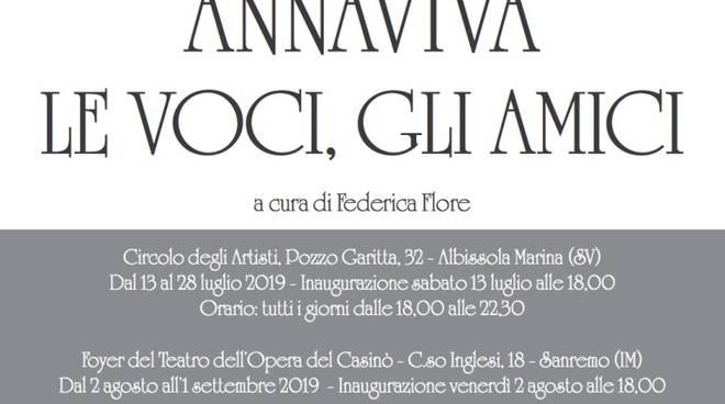 """""""Annaviva - Le voci, gli amici"""" mostra Albissola Marina"""
