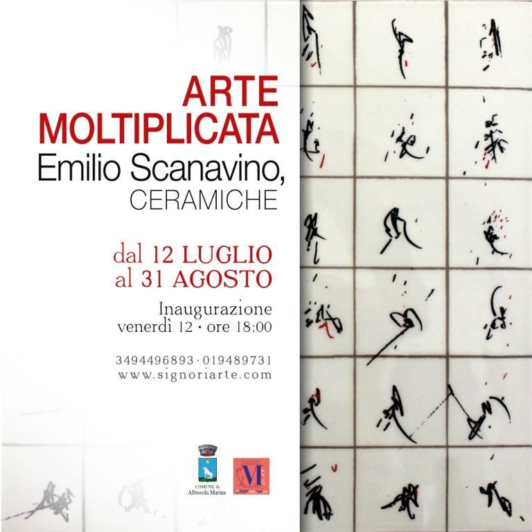 """""""Arte moltiplicata: Emilio Scanavino, ceramiche"""" mostra Albissola Marina"""