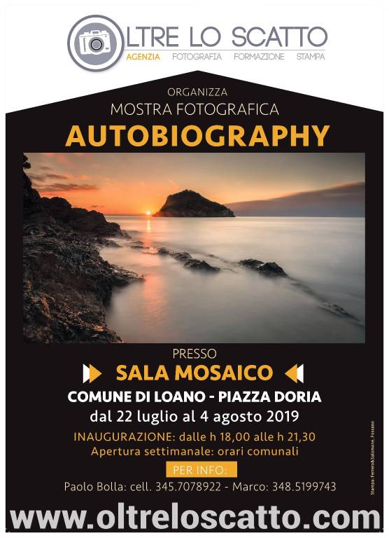 """""""Autobiography"""" mostra fotografica Palazzo Doria Loano"""