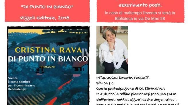 """Bergeggi incontra Cristina Rava- Presentazione \""""Di punto in bianco\"""""""