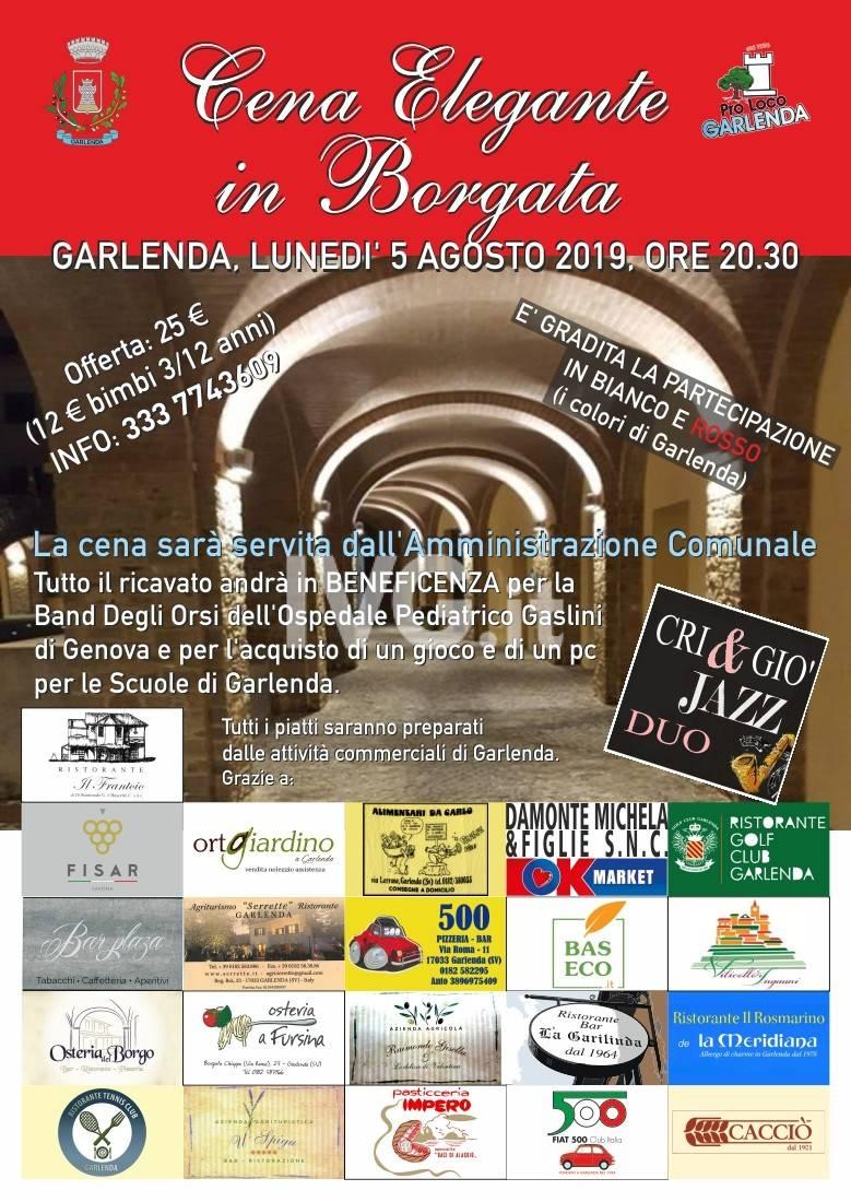 Cena Elegante in Borgata a Garlenda