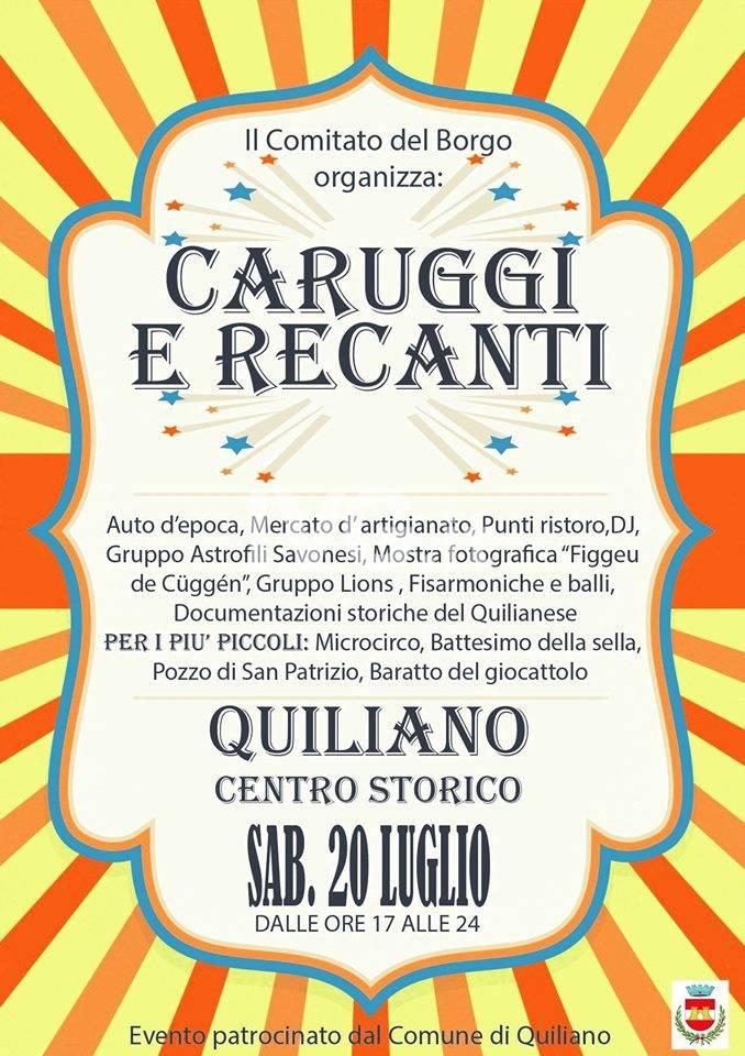 Caruggi e Recanti a Quiliano