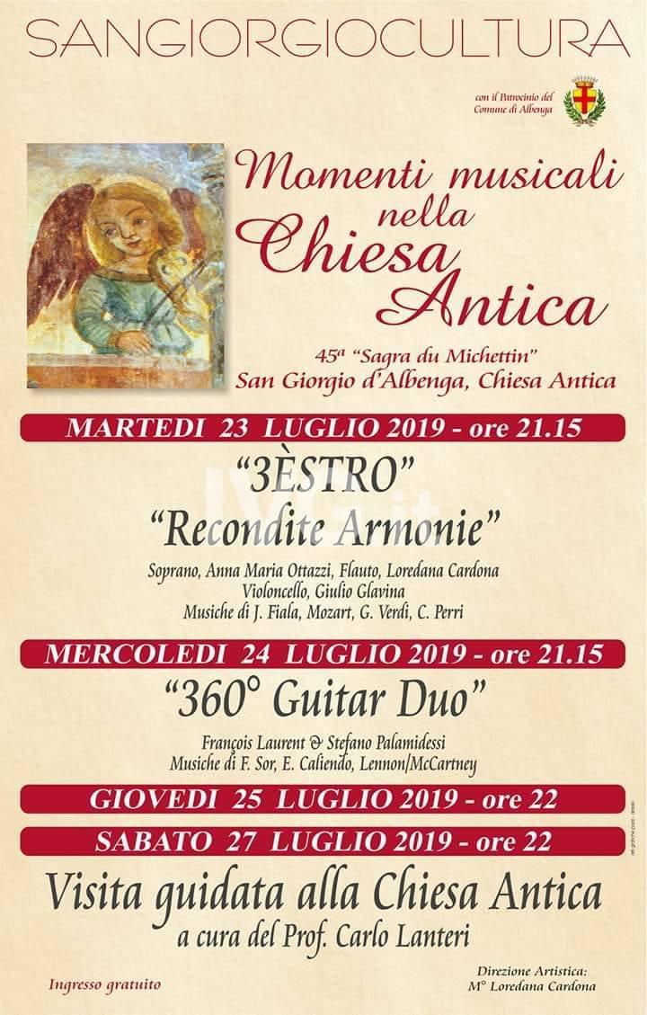 SAN GIORGIO D\'ALBENGA: MOMENTI MUSICALI NELLA CHIESA ANTICA