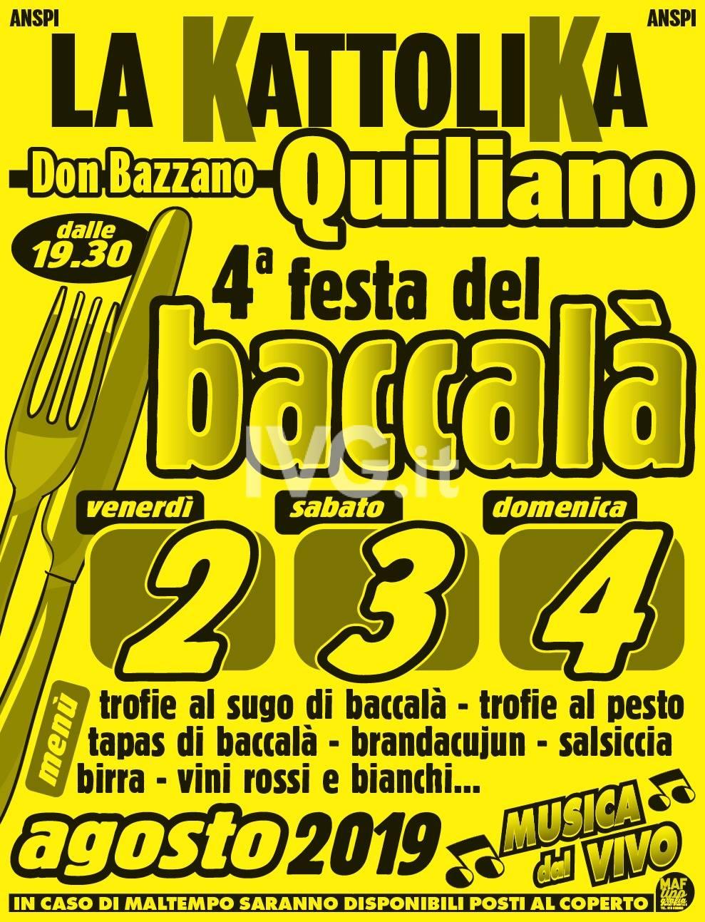 4° festa del baccalà a Quiliano