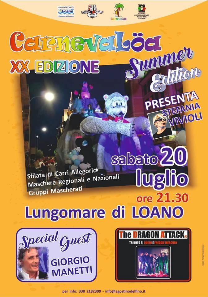 Carnevalöa Summer Edition 2019 Loano