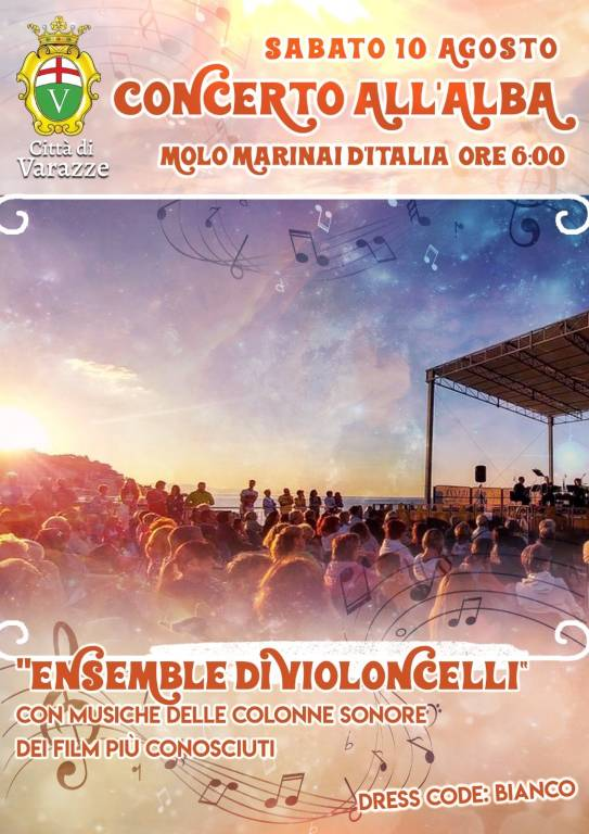 Concerto all'Alba Varazze agosto 2019