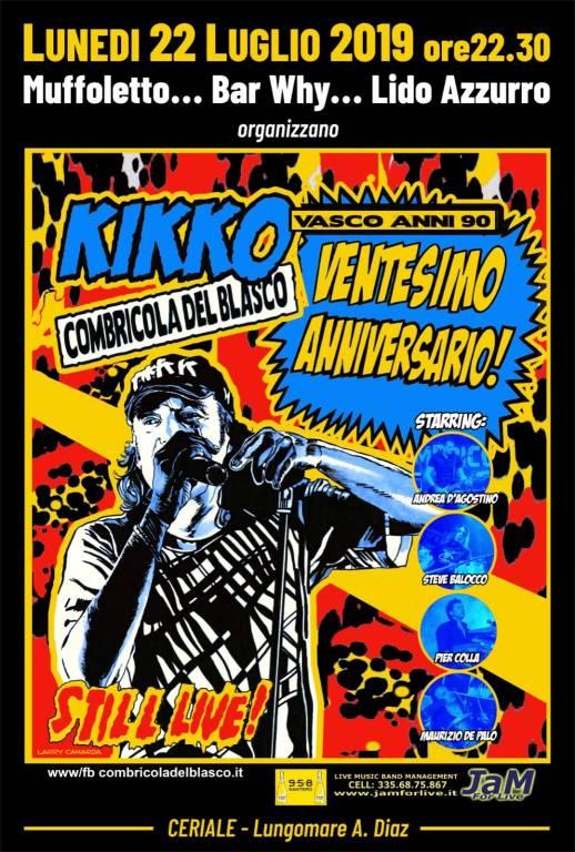 Kikko e La Combriccola del Blasco concerto Ceriale 2019