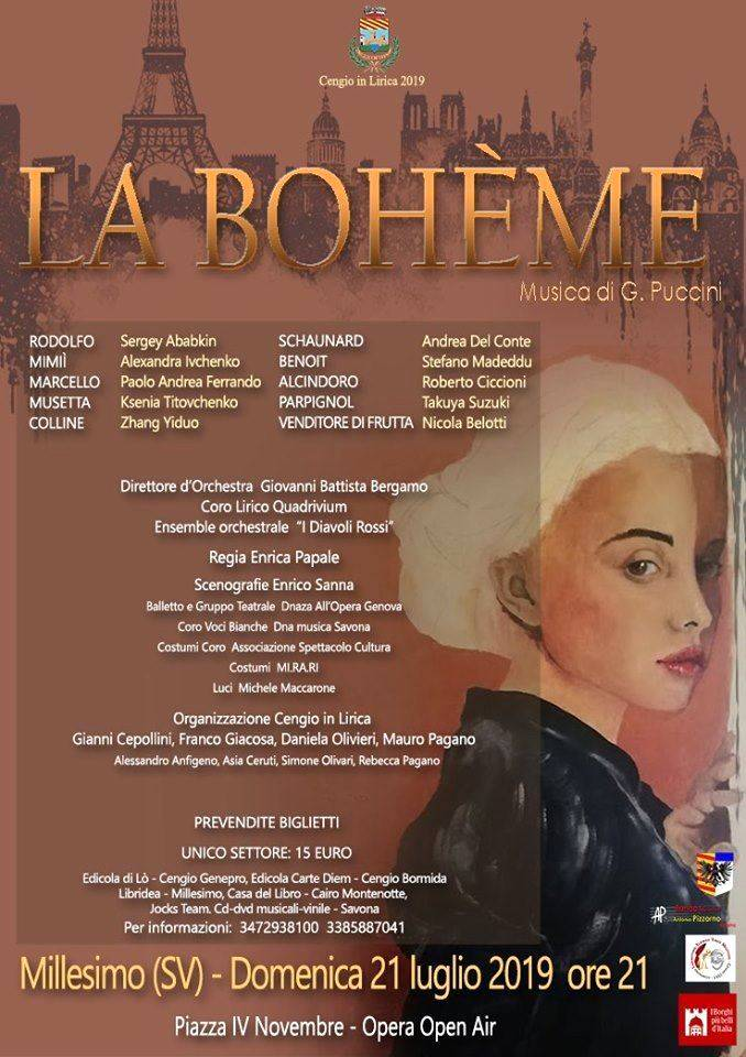 """""""La Bohème"""" opera lirica Millesimo"""