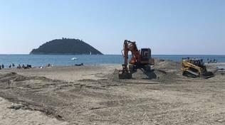 La spiaggia del Jova Beach Party ad Albenga