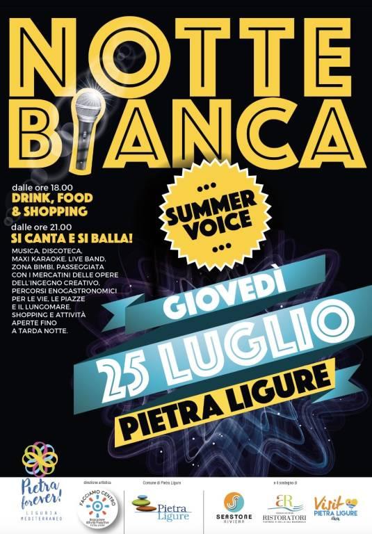Notte Bianca Summer Voice 2019 Pietra Ligure