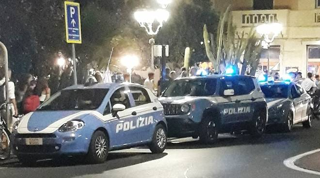 polizia alassio notte