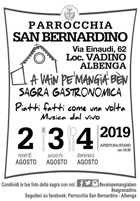 "Sagra ""A Vain Pe' mangia' Bèn"" ad Albenga Vadino"