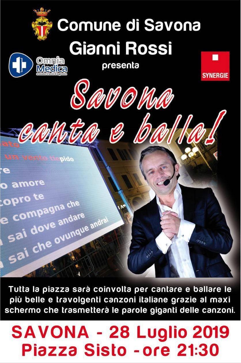 """""""Savona canta e balla!"""" concerto Gianni Rossi"""