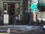 Savona, crollo parziale di un terrazzino