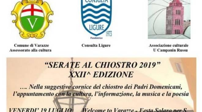 Serate al Chiostro 2019 Varazze
