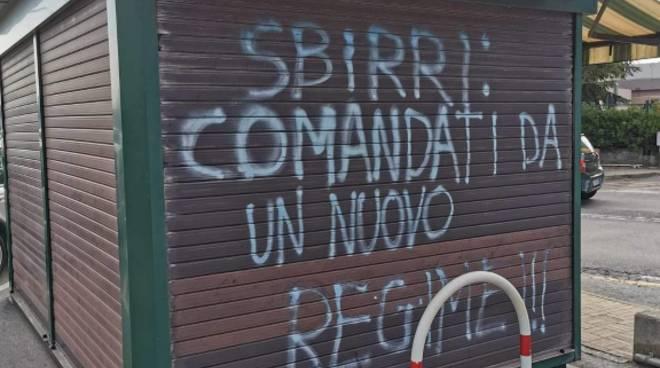 Scritta Savona Polizia