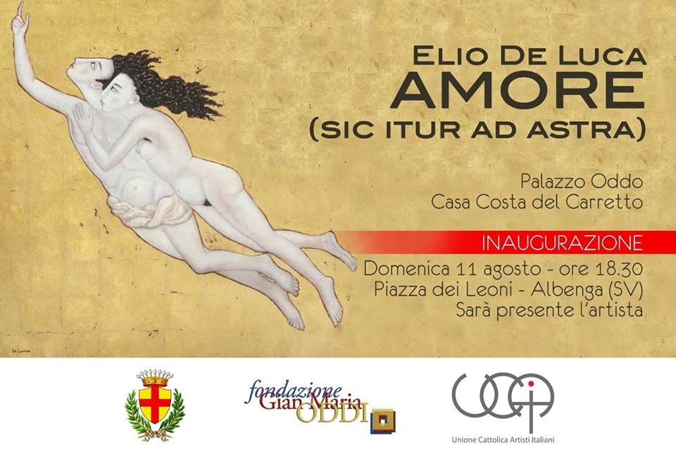 """""""Amore (sic itur ad astra)"""" mostra Elio de Luca Albenga"""