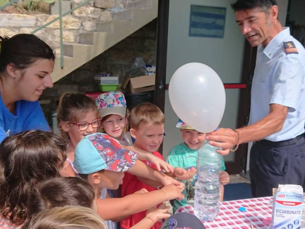 Bambini stazione meteo Andora