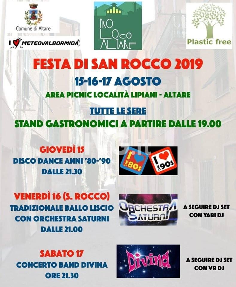 Festa di San Rocco 2019 ad Altare