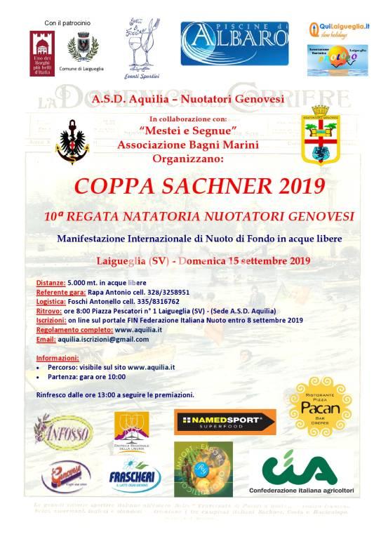 Coppa Sachner - 10^ Regata Natatoria Nuotatori Genovesi