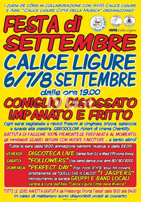 11° Festa di settembre a Calice Ligure
