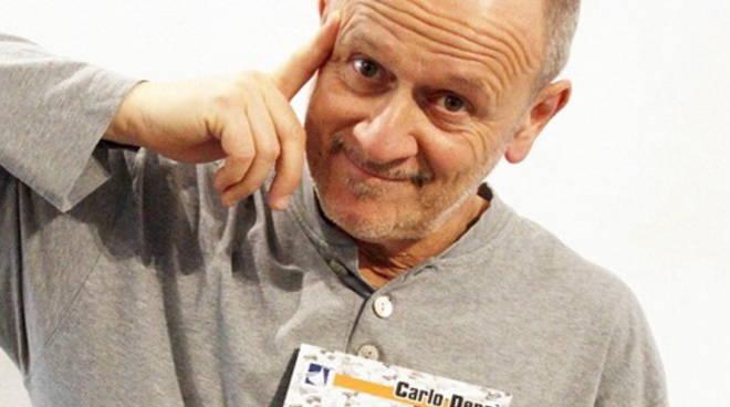 """Carlo Denei e libro """"Come se fossi sano"""""""