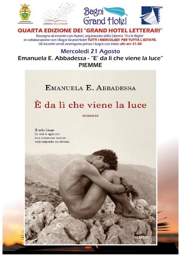 """""""È da lì che viene la luce"""" libro Emanuela Abbadessa Varazze"""