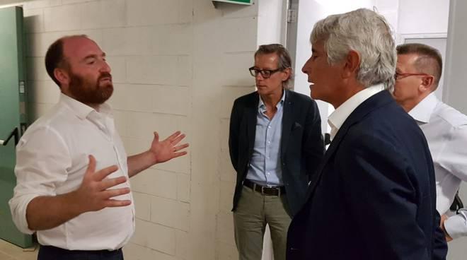 Il presidente del Credito Sportivo Abodi in visita ad Albenga