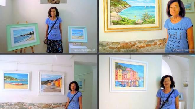 Mariarosa Pignone mostra d'arte Gallery Malocello Varazze
