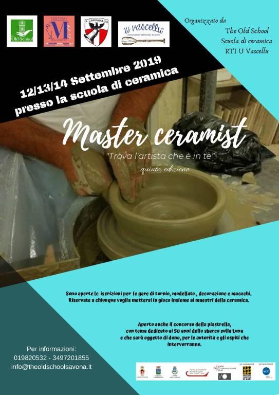 """""""Master Ceramist"""" Gara di ceramica a Savona"""