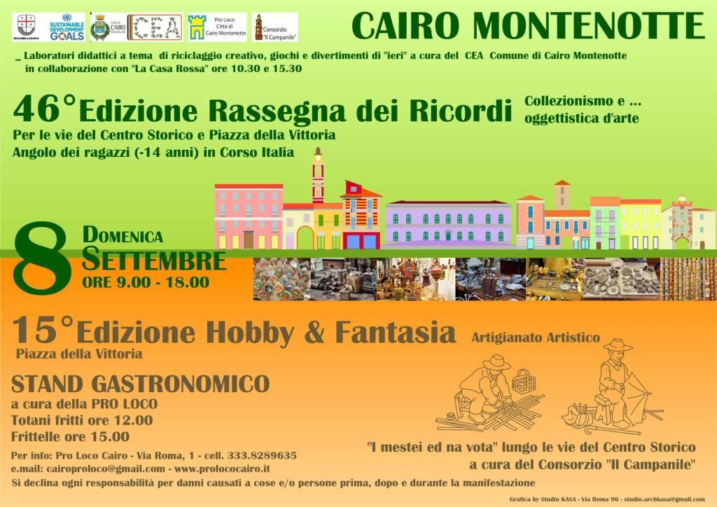 Rassegna dei Ricordi e Hobby e Fantasia a Cairo Montenotte