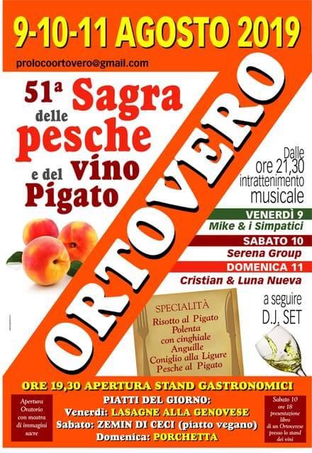 Sagra delle Pesche e del Vino Pigato a Ortovero