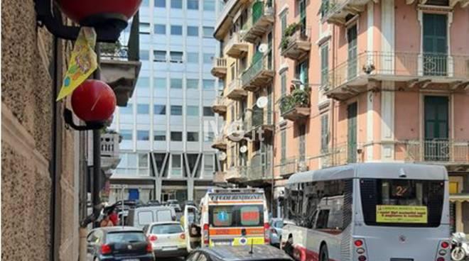 Tamponamento via Cavour Savona