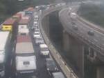 traffico bloccato, coda autostrada