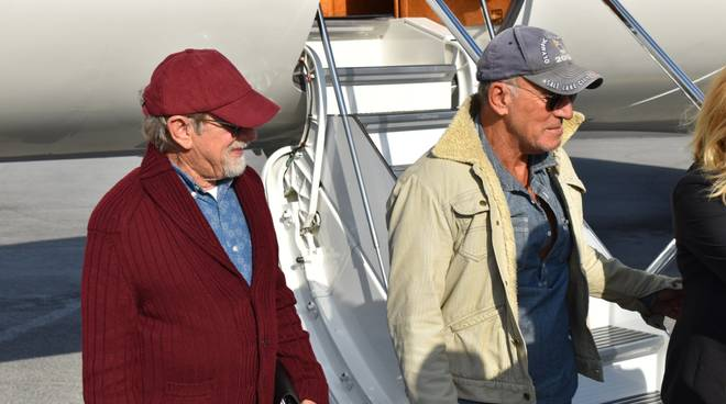 Bruce Springsteen e Steven Spielberg atterrati a Genova