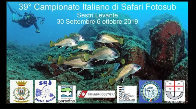 39° Campionato Italiano di Safari Foto Sub  Sestri Levante 1 - 6 ottobre 2019