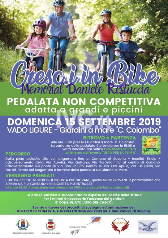 Cresc.i in bike- Memorial Daniele Restuccia - Pedalata non competitiva per grandi e piccini a Vado Ligure