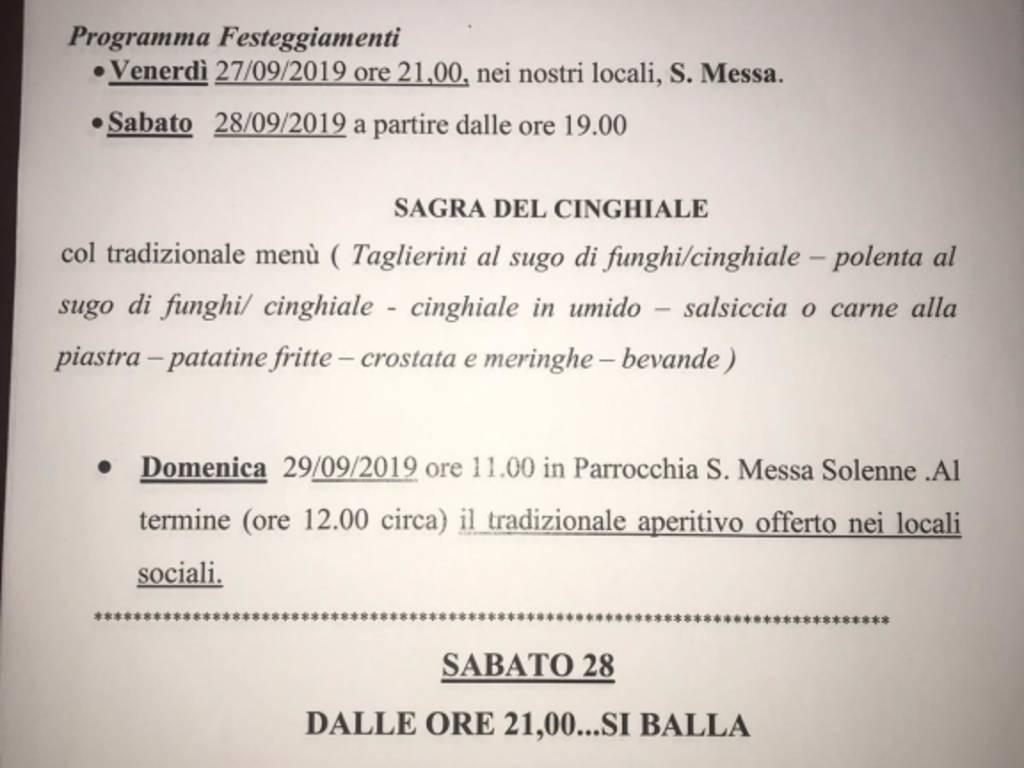 Sagra de cinghiale di Borzoli