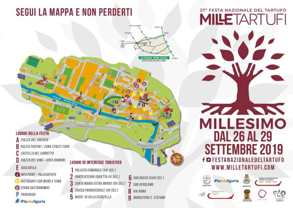 Festa Nazionale Tartufo Millesimo 2019 mappa