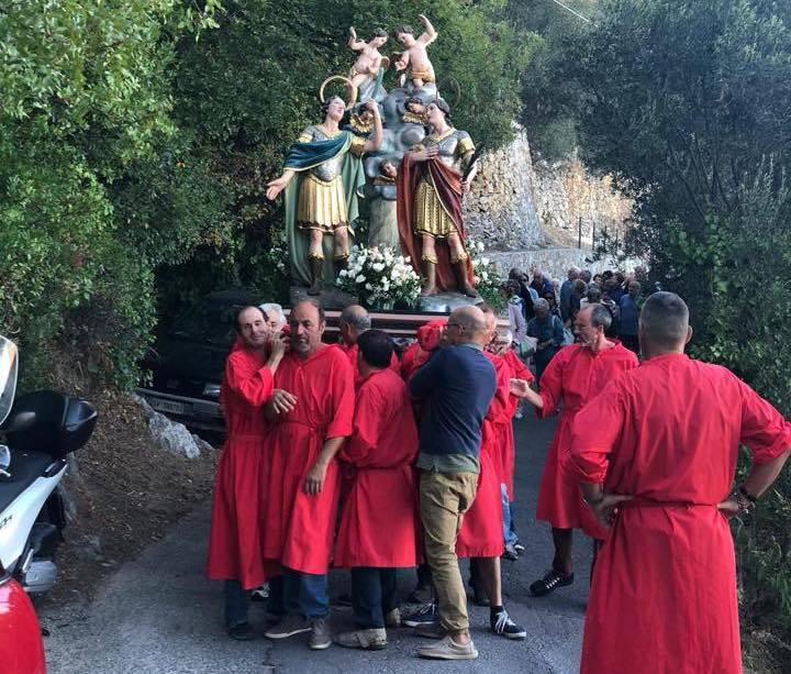 Festa Santi Cosma e Damiano Loano processione