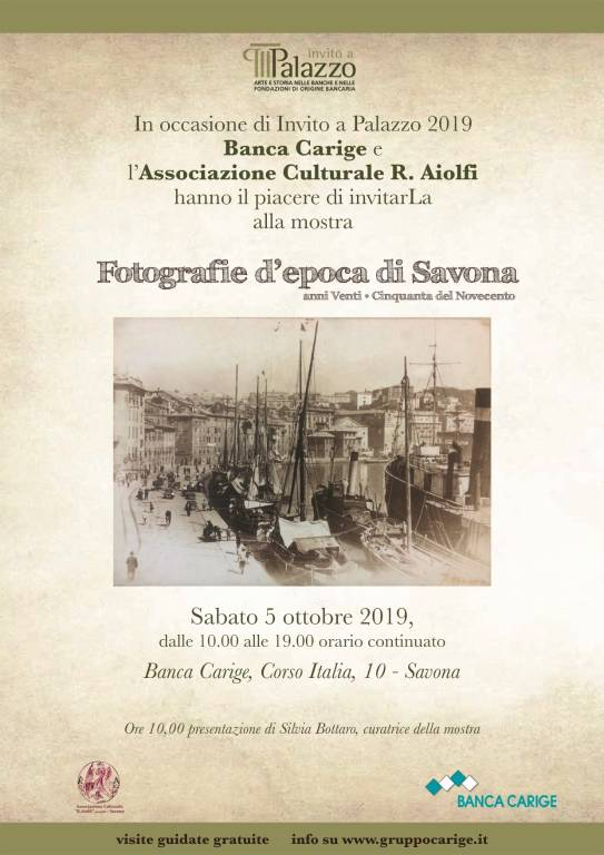 """""""Fotografie d'epoca di Savona"""" mostra Carige"""