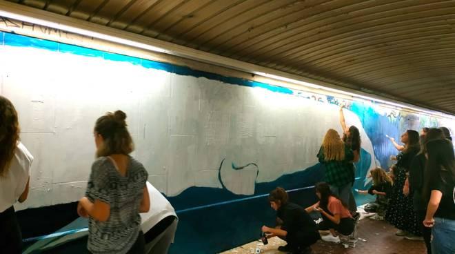 Fridays For Future murales Borgo Incrociati