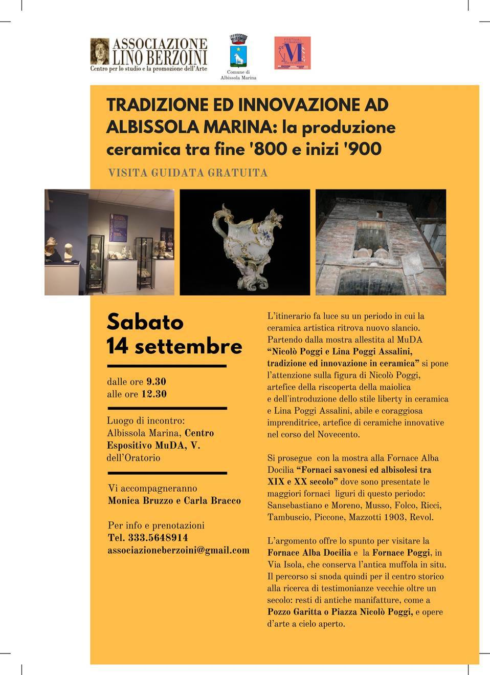 Visita guidata Tradizione e innovazione Albissola 2019