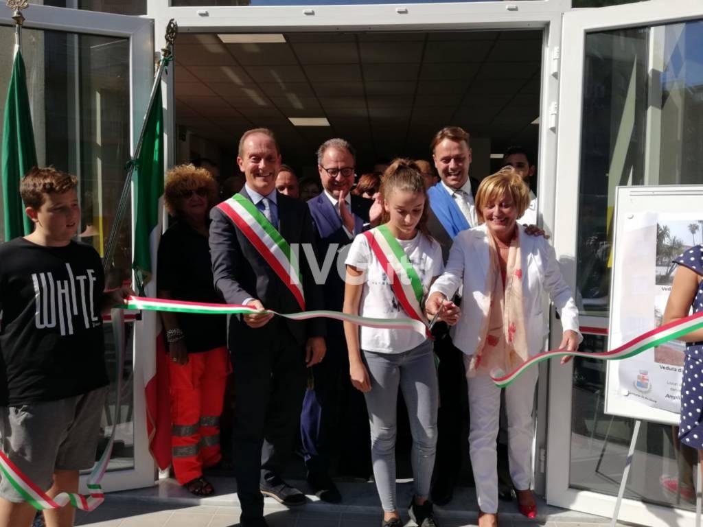 Inaugurazione mensa, campo da basket e terrazza scuola Andora