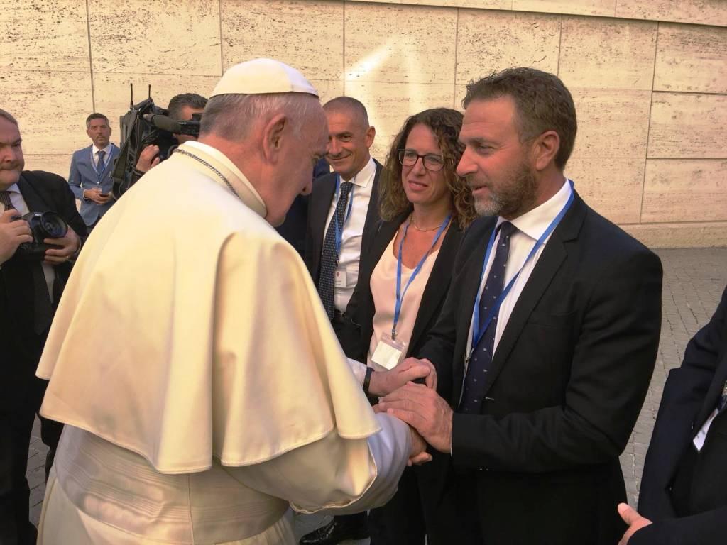 incontro papa consiglio regionale