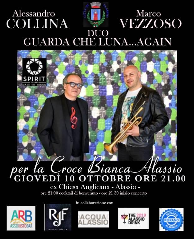Marco Vezzoso e Alessandro Collina concerto Croce Bianca Alassio